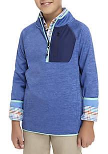 Boys 8-20 Space Dye Performance 1/4 Zip Jacket