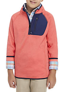 Boys 8-20 Space Dye Performance 1/4 Zip Jacket