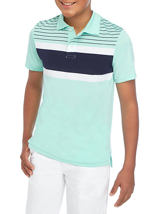 Crown & Ivy™ Boys 8-20 Yacht Stripe Polo