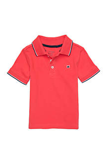 Crown & Ivy™ Boys 4-8 Polo with Flat Knit Collar