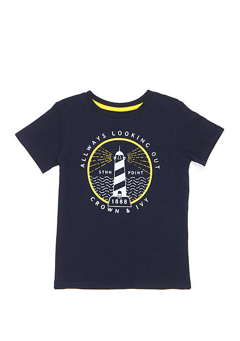Crown & Ivy™ Boys 4-7 Short Sleeve Fashion