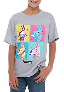 Fortnite Boys 8-20 Short Sleeve Llama Grid T-Shirt