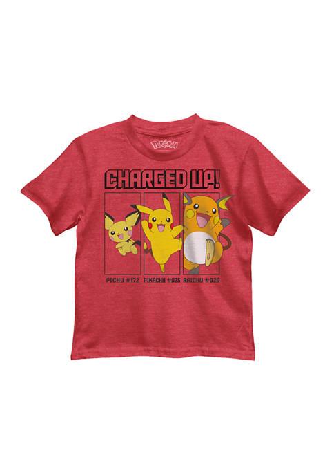 Boys 4-7 Pikachu Level Up Graphic T-Shirt