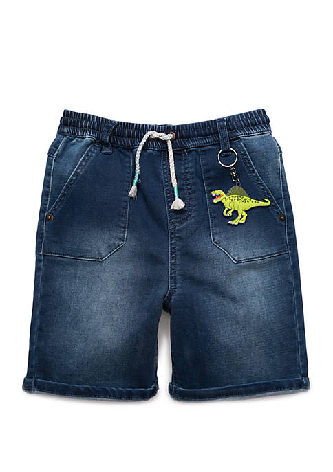 Lightning Bug Boys 4-8 Dino Key Chain Shorts