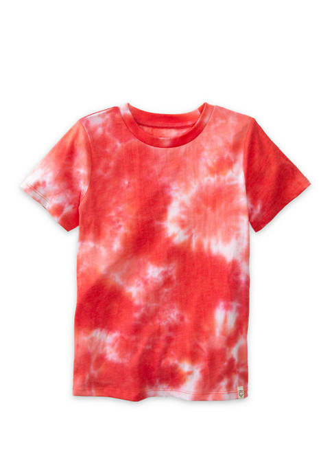 Boys 4-7 Short Sleeve Tie Dye T-Shirt