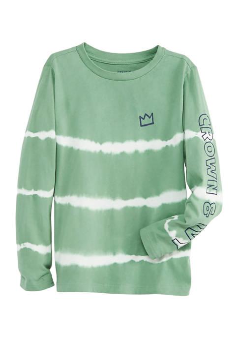 Boys 4-7 Long Sleeve Tie-Dye T-Shirt