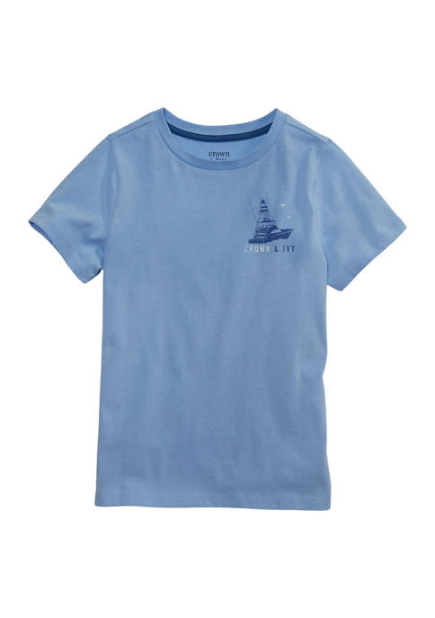 Crown & Ivy™ Boys 4-7 Short Sleeve Graphic