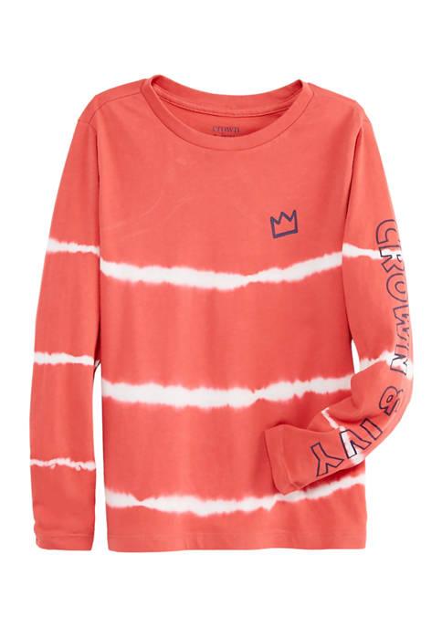 Boys 8-20 Long Sleeve Tie-Dye T-Shirt