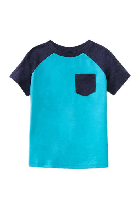 Lightning Bug Boys 4-8 Raglan Pocket T-Shirt