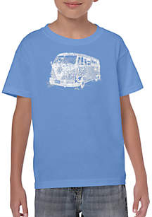 LA Pop Art Boys 8-20 Word Art T Shirt - The 70's