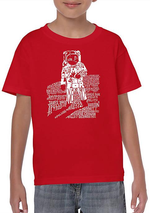 Boys 8-20 Word Art T Shirt - Astronaut