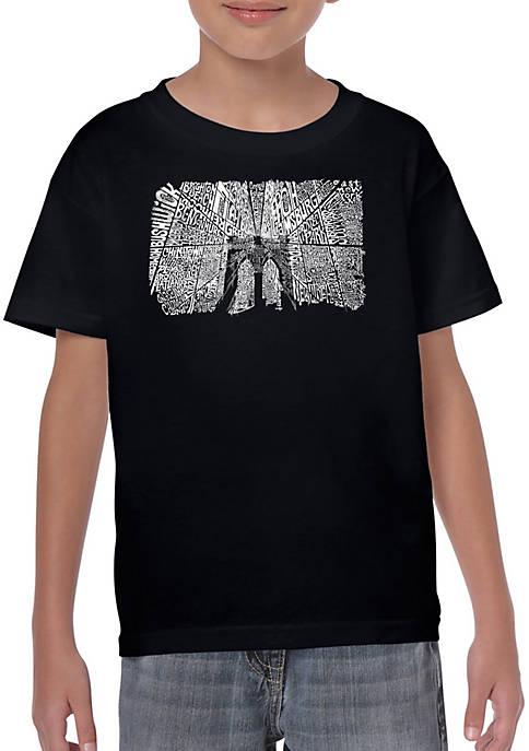 Boys 8-20 Word Art Graphic T-Shirt - Brooklyn Bridge