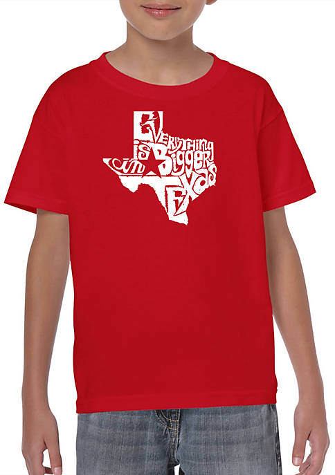 Boys 8-20 Word Art T Shirt - Everything is Bigger in Texas