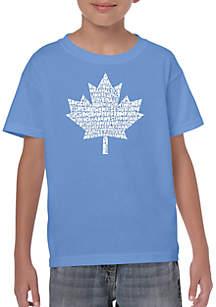 LA Pop Art Boys 8-20 Word Art T Shirt - Canadian National Anthem