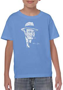 LA Pop Art Boys 8-20 Word Art T Shirt - Al Capone Original Gangster
