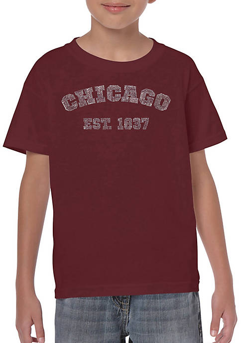 Boys 8-20 Word Art Graphic T-Shirt - Chicago 1837