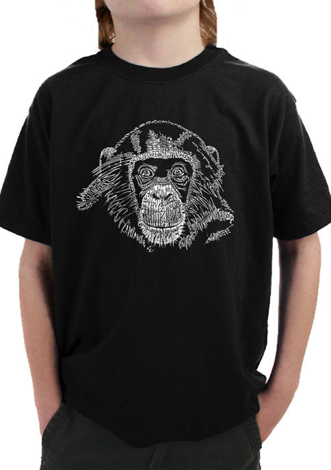 Boys 8-20 Word Art T-Shirt - Chimpanzee