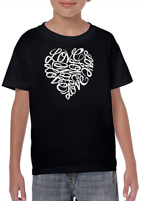 Boys 8-20 Word Art T Shirt - LOVE