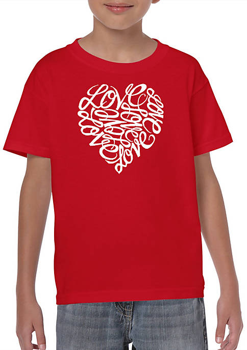 Boys 8-20 Word Art T Shirt - LOVE