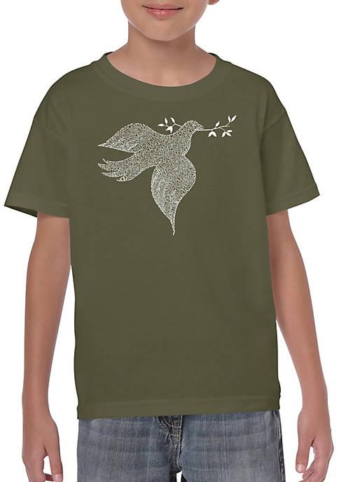 Boys 8-20 Word Art Graphic T-Shirt - Dove