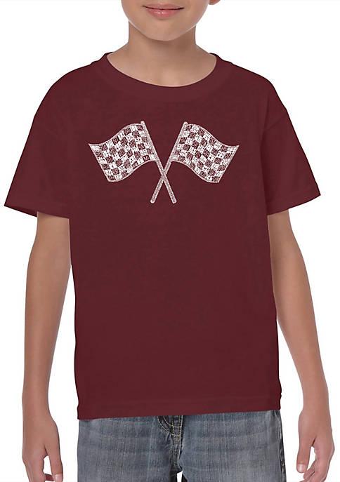 Boys 8-20 Word Art T Shirt - Nascar National Series Race Tracks