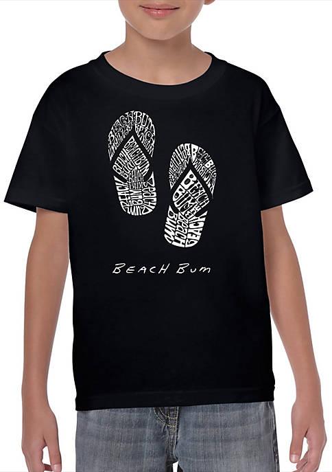 Boys 8-20 Word Art T Shirt - Beach Bum