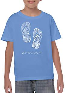 LA Pop Art Boys 8-20 Word Art T Shirt - Beach Bum