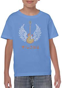 LA Pop Art Boys 8-20 Word Art T Shirt - Lyrics to Freebird