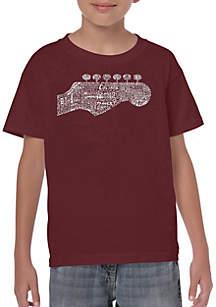 9d56ff268 ... LA Pop Art Boys 8-20 Word Art T Shirt - Guitar Head
