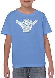 LA Pop Art Boys 8-20 Word Art T Shirt - Top Worldwide Surfing Spots