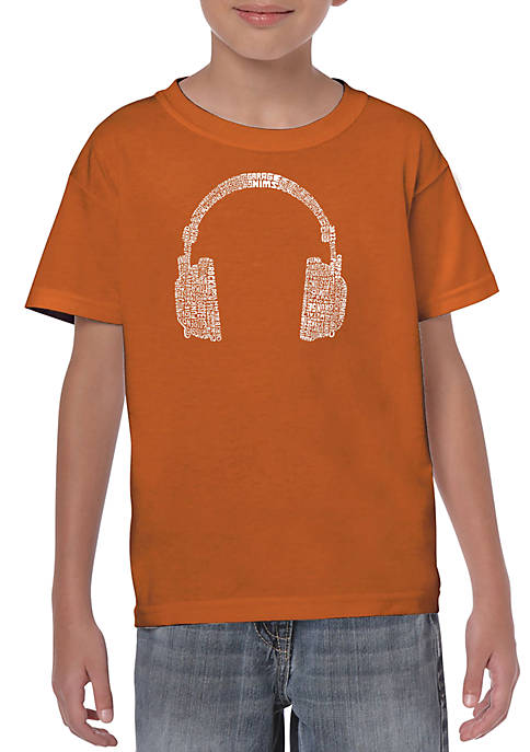 Boys 8-20 Word Art T Shirt - 63 Different Genres of Music