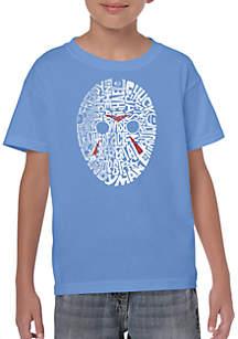 LA Pop Art Boys 8-20 Word Art T Shirt - Slasher Movie Villains