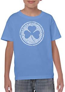 LA Pop Art Boys 8-20 Word Art T Shirt - Lyrics to When Irish Eyes Are Smiling