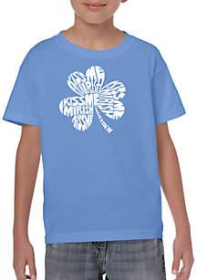 LA Pop Art Boys 8-20 Word Art T Shirt - Kiss Me I'm Irish