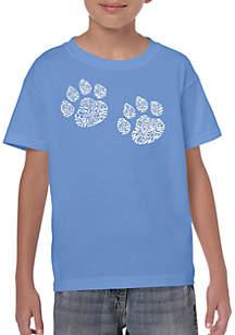 LA Pop Art Boys 8-20 Word Art T Shirt - Meow Cat Prints
