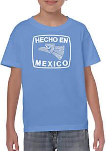 LA Pop Art Boys 8-20 Word Art T Shirt - Hecho En Mexico