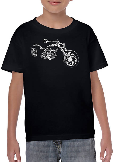 Boys 8-20 Word Art T Shirt - Motorcycle