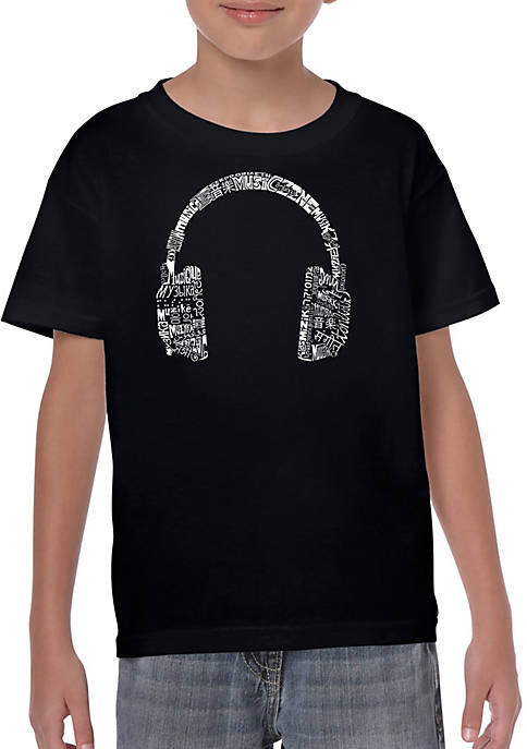 Boys 8-20 Word Art T-shirt - Headphones