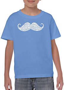 LA Pop Art Boys 8-20 Word Art T Shirt - Ways to Style a Mustache