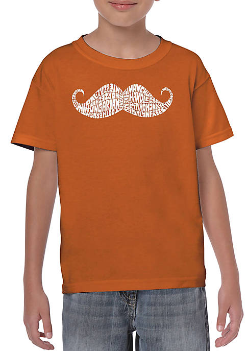 Boys 8-20 Word Art T Shirt - Ways to Style a Mustache