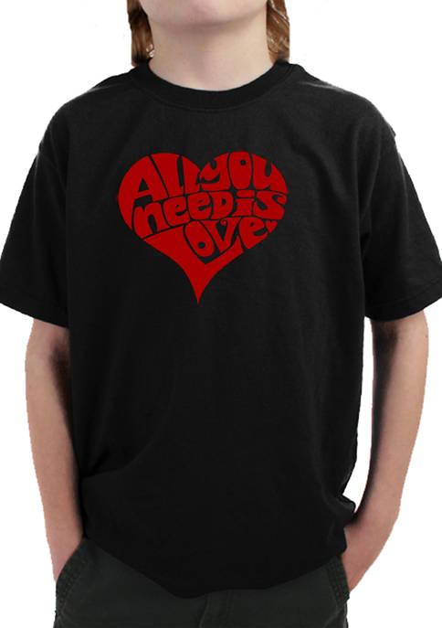 LA Pop Art Boys 8-20 Word Art T-Shirt