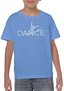 LA Pop Art Boys 8-20 Word Art T Shirt - Dancer