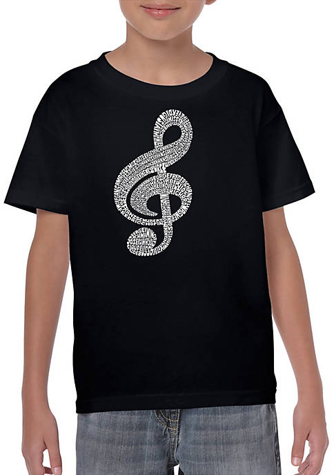 Boys 8-20 Word Art Graphic T-Shirt - Music Note