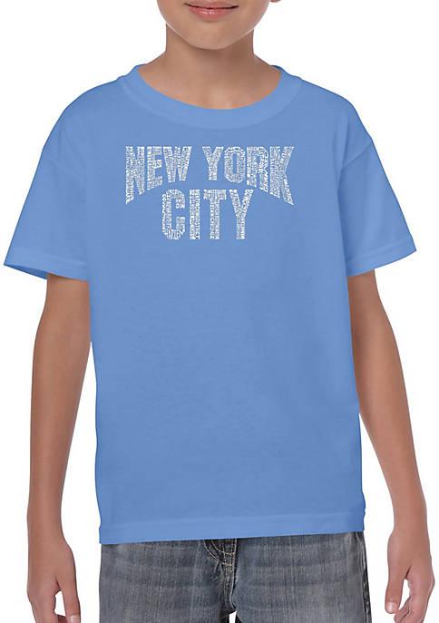Boys 8-20 Word Art T Shirt - NYC Neighborhoods