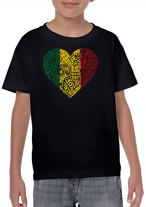 Boys 8-20 Word Art Graphic T-Shirt - One Love Heart