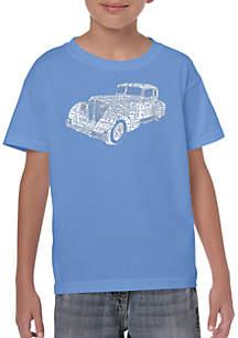 LA Pop Art Boys 8-20 Word Art T Shirt - Mobsters