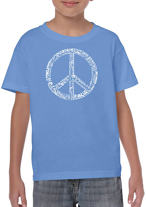 Boys 8-20 Word Art T Shirt - The Word Peace in 77 Languages