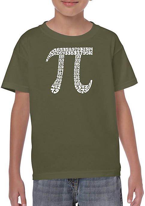 Boys 8-20 Word Art T Shirt - The First 1-- Digits of Pi