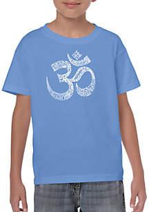 LA Pop Art Boys 8-20 Word Art T Shirt- Poses OM