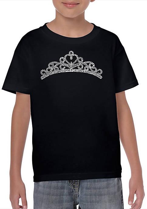 Boys 8-20 Word Art Graphic T-Shirt - Princess Tiara